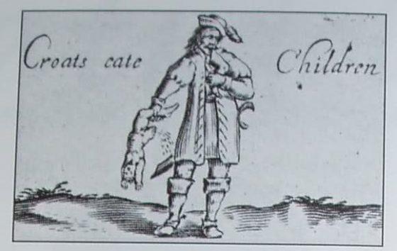 Хрвати једу децу- опис из књиге Џона Ротвела из 1638- Жал над Немачком