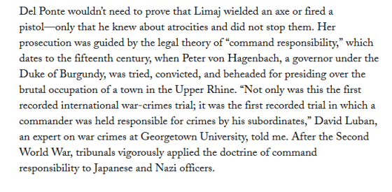Дел Понтеова утврдила командну одговорност у случају Лиман